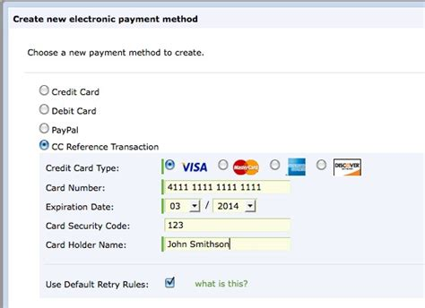 Sle Credit Card Details How Do I Use The Credit Card Reference Transaction Payment Method For Paypal In Zuora Zuora