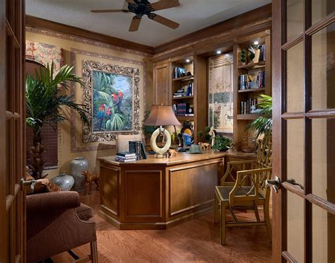 home office design and decor 10 ways to go tropical for a relaxing and trendy home office
