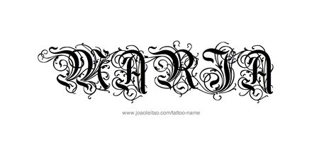 maria name tattoo design name 20 22 png