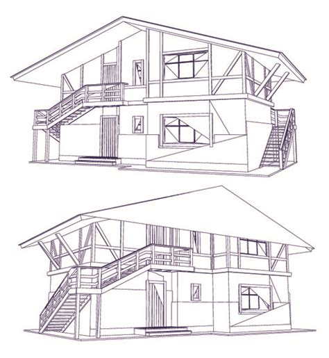 design building layout set layout of the building design vector graphics 05