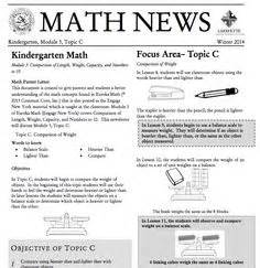 Parent Letter Eureka Math Kindergarten Module 2 Topic B Parent Newsletter Developed By Eureka Math Users Lafayette