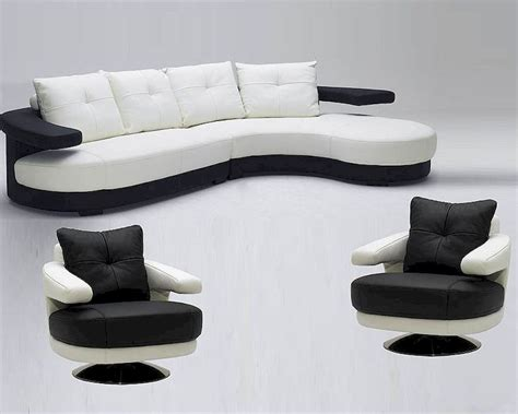 Ultra Modern Sofas Black And White Ultra Modern Leather Sectional Sofa Set 44l899