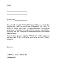 employment letter template 40 proof of employment letters verification forms sles