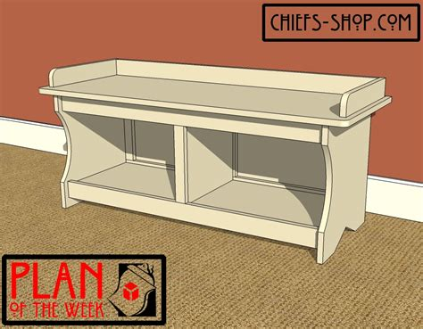 entryway storage bench plans entry storage bench plans free quick woodworking projects