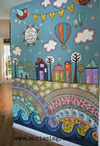 What Kind Of Paint To Use For A Wall Mural 1000 Ideas About Painted Wall Murals On Pinterest Wall