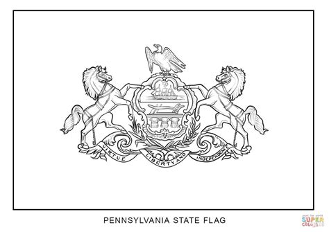 flag of pennsylvania coloring page free printable