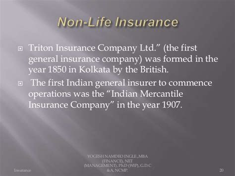 Insurance Mba In India by Introduction To Insurance