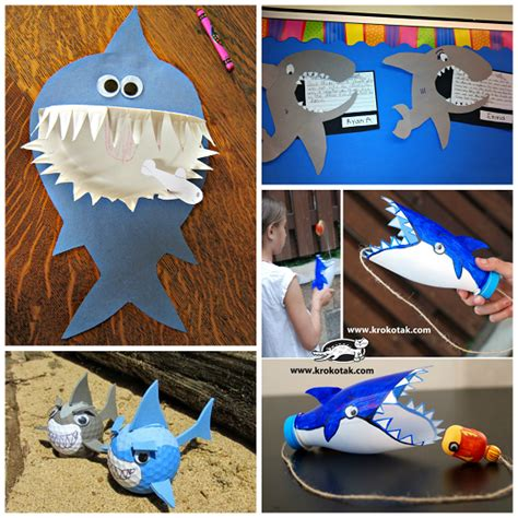 shark crafts for non scary shark crafts for to create crafty morning