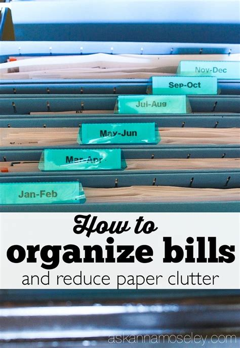 how to reduce clutter how to organize bills and reduce paper clutter top