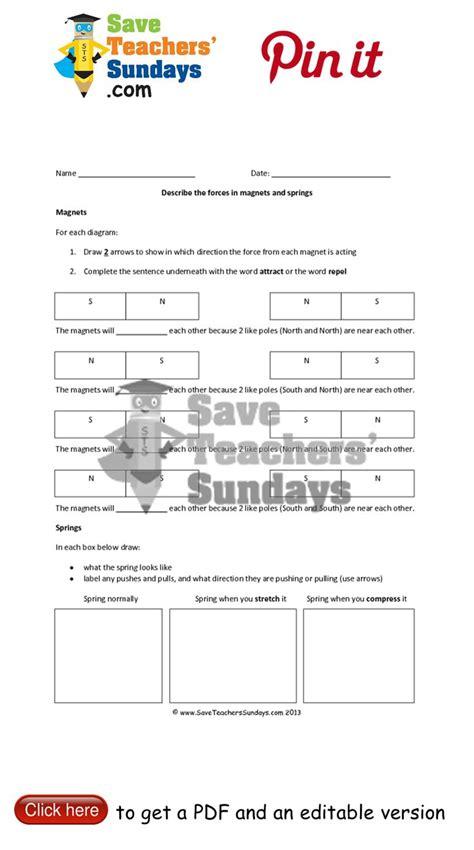 printable lesson plans for grade 3 science worksheets for grade 3 forces worksheet exle