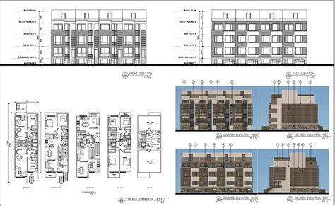 stacked townhouse floor plans stacked townhouse floor plans mibhouse