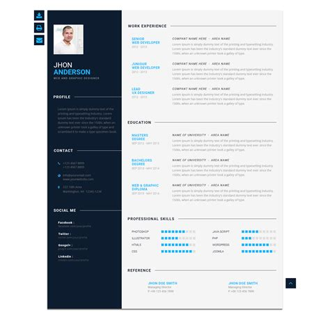 Modern Cv by Modern Cv Personal Resume Template By Blendthemes