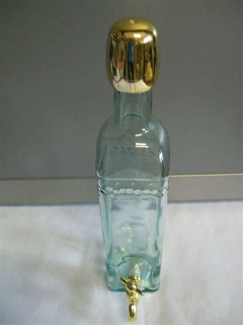 bottiglie di vetro con rubinetto bottiglia dorata con rubinetto enotecnica albese