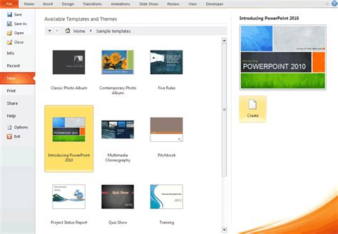 Build Powerpoint Template creating a presentation using a template