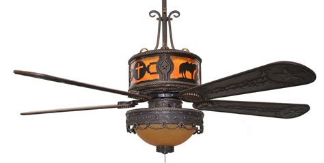 Cc Kvshr Brz Lk510 Pcc Praying Cowboy Cross Western Ceiling Fans