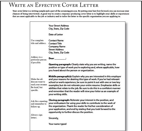 how to write a great cover letter for a job 7495