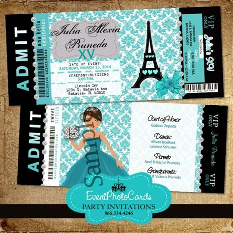 eiffel tower birthday invitations teal eiffel tower invitations for quinceanera or sweet 16t