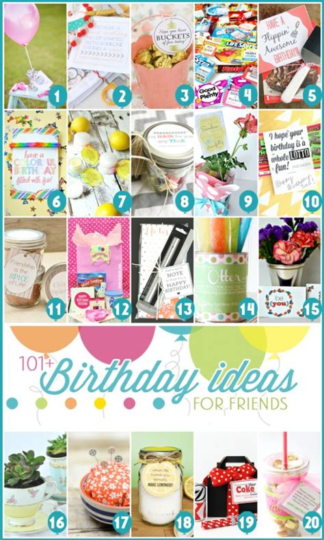 ideas on what to get friends cheap on pinterest 101 easy birthday gift ideas and free printables