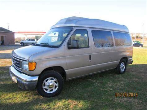 sell used 2003 ford e150 wheel chair van low miles xlt rear lift 1 owner in hagerstown maryland