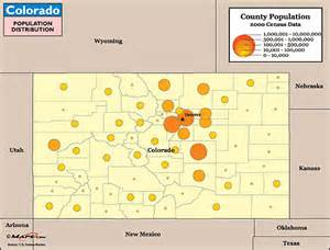 colorado population map purchase this as a poster