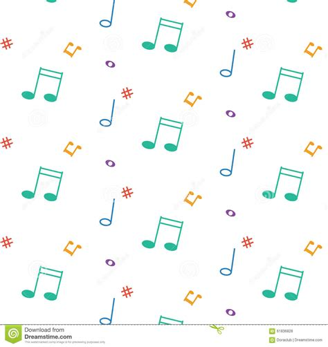 vector pattern with music notes vector pattern with music notes stock vector image 61836828