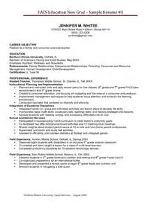 family and consumer science teacher resume resume