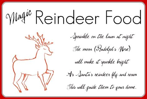 printable reindeer food poems reindeer food printables new calendar template site
