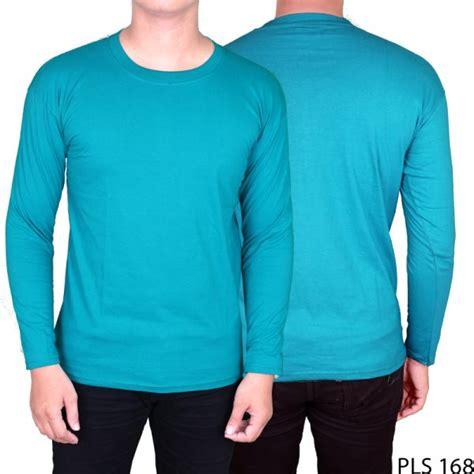 Kaos Polo Panjang kaos polo polos panjang cotton cardet hijau tosca pls