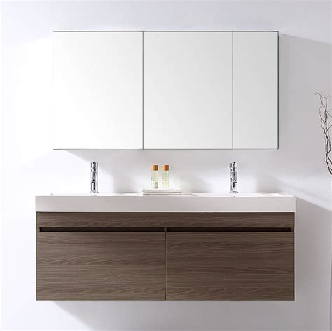 54 bathroom vanity double sink 54 inch wall mounted double sink bathroom vanity grey oak