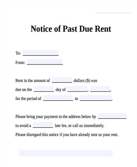 fancy past due notice template model documentation template
