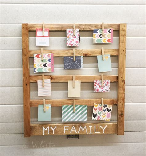 Handmade Project Ideas - white easy scrap wood photo display gifts diy projects