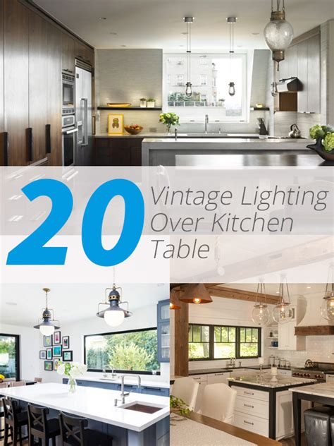 20 charming vintage lighting kitchen table home