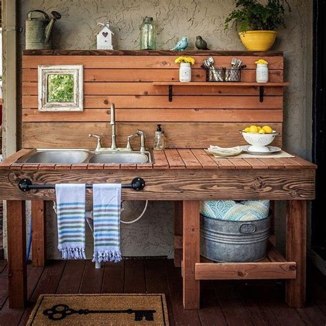 outdoor kitchen table with sink best 25 outdoor kitchen sink ideas on build