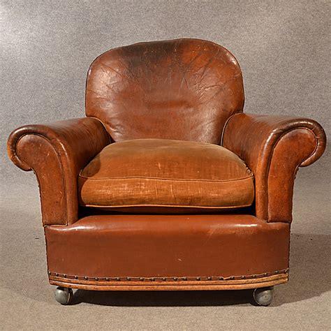 antique leather armchair antique leather armchair vintage club easy chair v