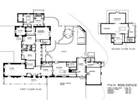 house plans with attached guest house house plans guest house attached house and home design