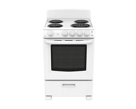 24 inch electric cooktop ge 24 inch 2 9 cu ft single oven electric range in white