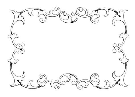 Romantic clipart pink vintage frame   Pencil and in color