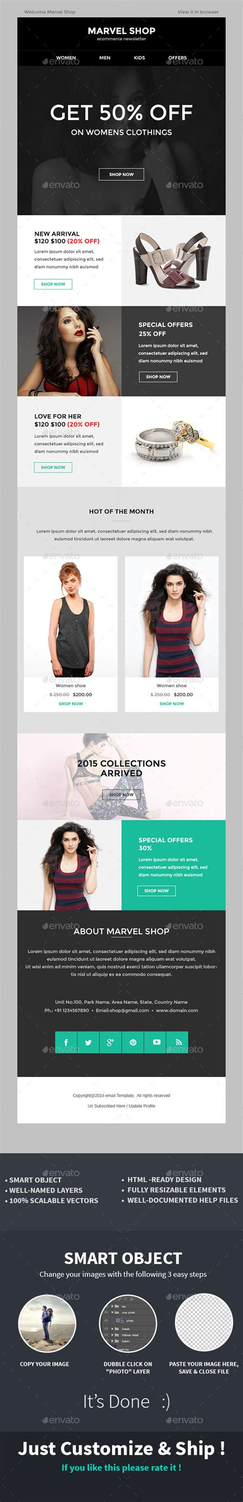 photoshop template offer e commerce special offer newsletter psd template e