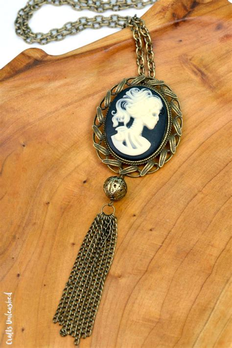 how to make cameo jewelry diy necklace skeleton cameo crafts unleashed