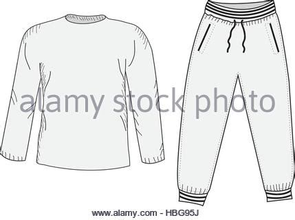 Set Lettering Jacket Sweatpants sports shirt vector illustration stock vector