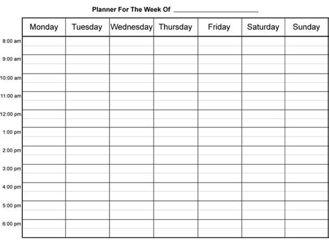 free printable hourly planner pages 10 best images about work scheduel on pinterest cleaning