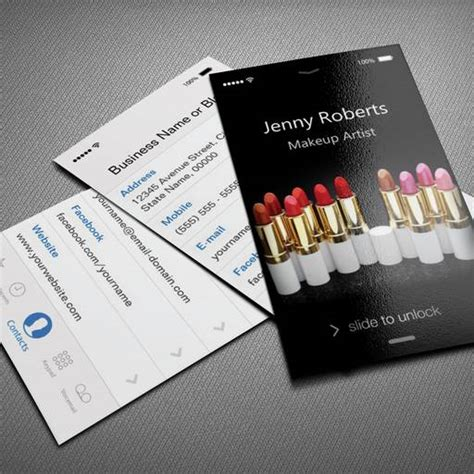 iphone business card template ai free download cards pinterest