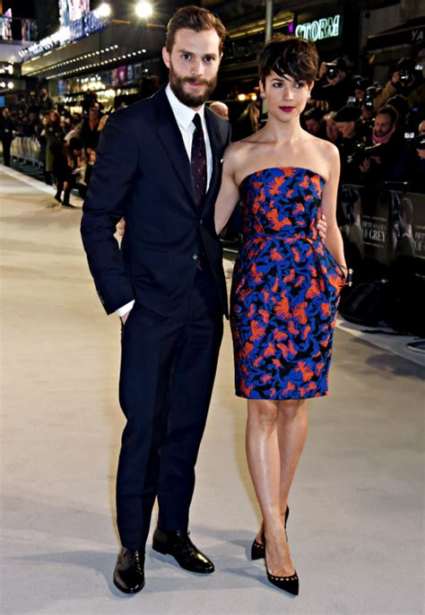 fifty shades of grey film premiere london jamie amelia fifty shades of grey london premiere