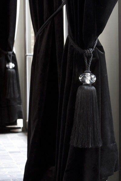black velvet drapes black velvet curtains with crystal tiebacks bieke
