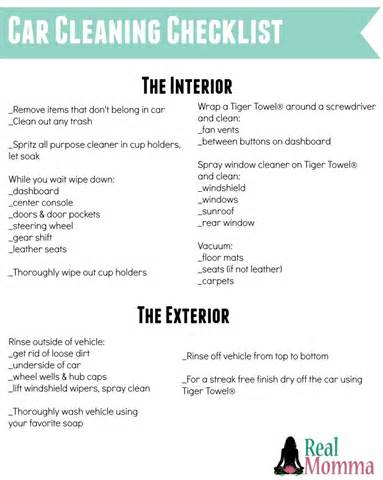 Vehicle Cleaning Checklist Template by Car Detailing Checklist Template Pictures Inspirational