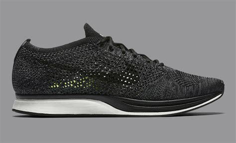 nike flyknit racer black knit  night   sole collector