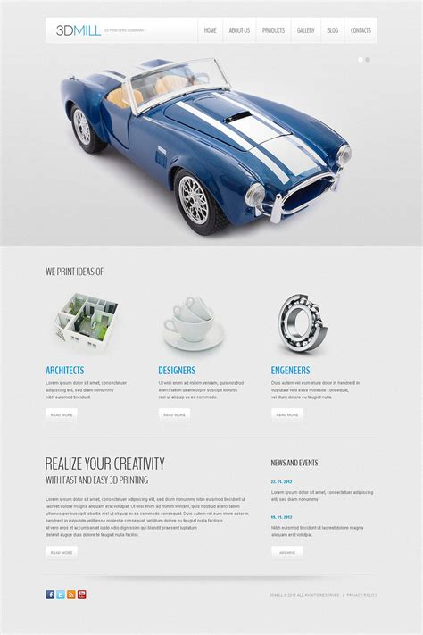 3d printer templates 3d printers company joomla template 44310