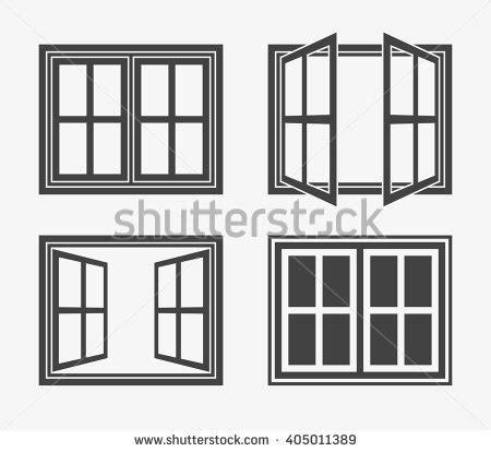 design windows icon window icon trendy flat style isolated stock vector