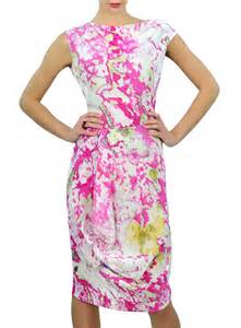 Draped Shirts Prophecy Dress In Fuchsia Mirage Reversible Vivienne