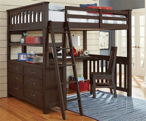 king size loft bed with desk 11080 size loft bed with desk in espresso finish